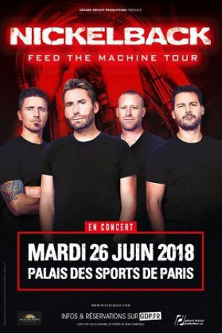Billets NICKELBACK  - Palais des Sports