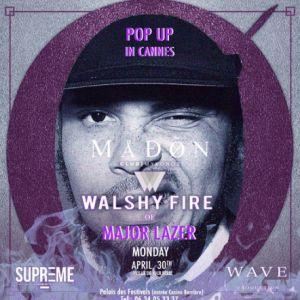 WALSHY FIRE of MAJOR LAZER @ PALAIS DES FESTIVALS (ENTREE CASINO) - CANNES