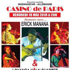 ERICK MANANA AVEC LE LOKANGA KÖLN QUARTET @ Casino de Paris - Paris
