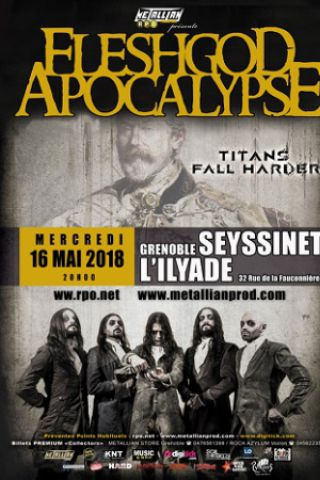 Concert FLESHGOD APOCALYPSE / TITANS FALL HARDER