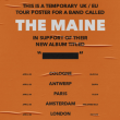 Concert THE MAINE  à PARIS @ LE FLOW - Billets & Places