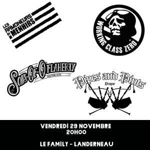 Les Ramoneurs De Menhirs + Working Class Zero + Invites