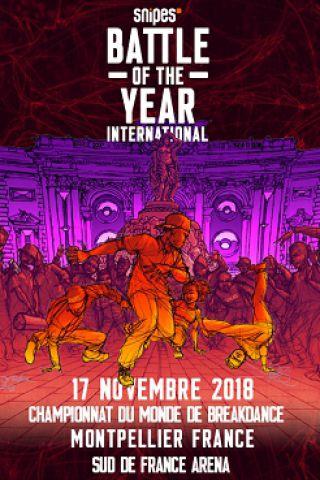 Concert SNIPES BATTLE OF THE YEAR INTERNATIONAL 2018 à Montpellier @ SUD DE FRANCE ARENA - Billets & Places