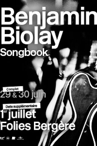 Concert BENJAMIN BIOLAY- SONGBOOK