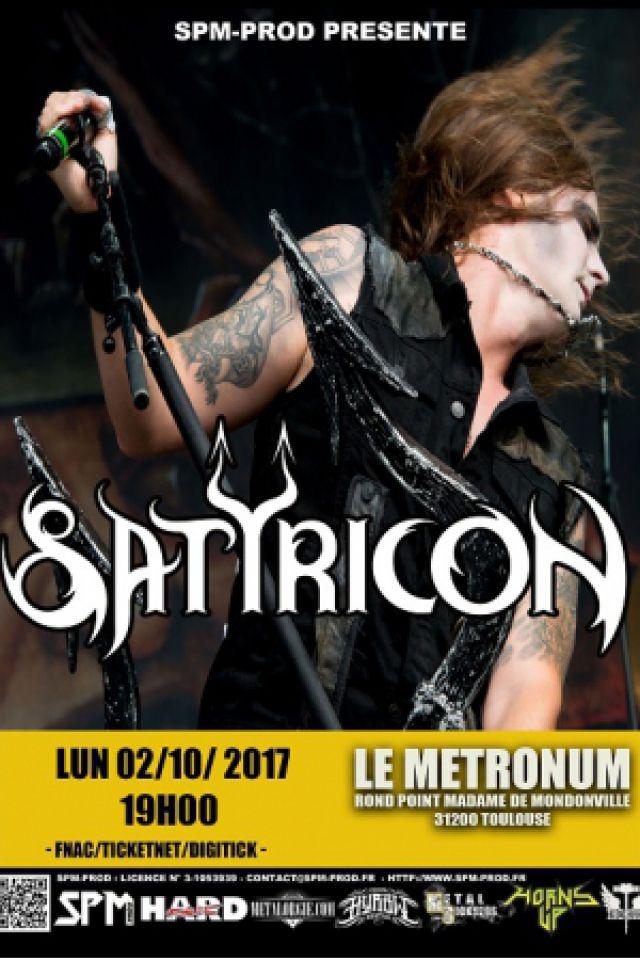 Satyricon + guest @  LE METRONUM - TOULOUSE