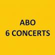 ABONNEMENT 6 CONCERTS à LA ROCHE SUR YON @ VENDEE - Billets & Places