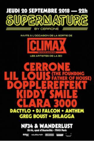 Billets SUPERNATURE x CLIMAX - Cerrone, Lil Louis, Kiddy Smile... - NF-34