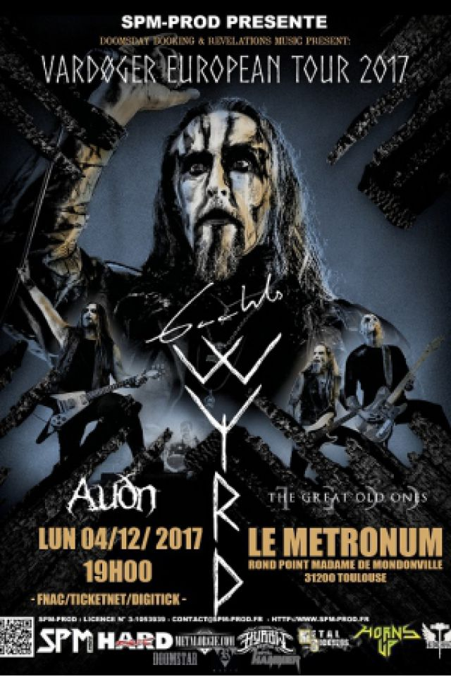 Gaahl's Wyrd + The Great Old Ones + Audn @  LE METRONUM - TOULOUSE