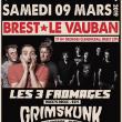 Concert LES 3 FROMAGES + GRIMSKUNK + CODE 40-11 à BREST @ Le Vauban - Billets & Places