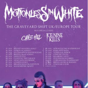 MOTIONLESS IN WHITE + CANE HILL + ICE NINE KILLS @ Petit Bain - PARIS