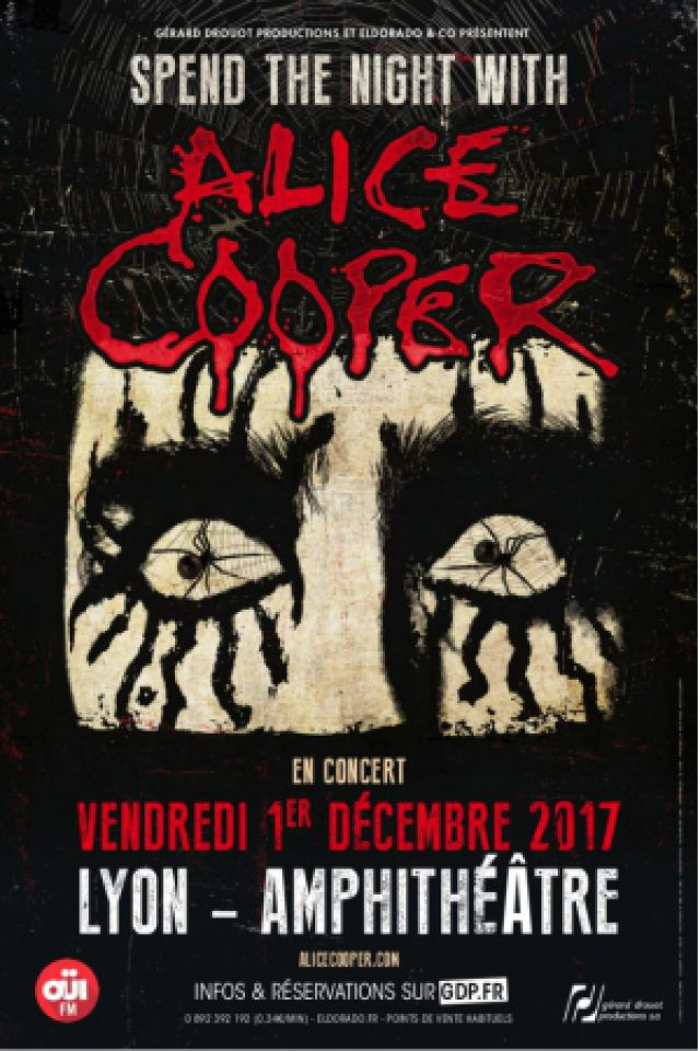 Concert ALICE COOPER à LYON @ AMPHITHEATRE CITE INTERNATIONALE - Billets & Places