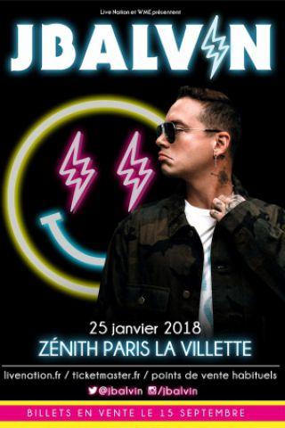 Concert J BALVIN à Paris @ Zénith Paris La Villette - Billets & Places