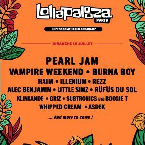 Lollapalooza Paris - Pass 1 Jour