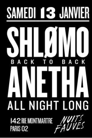 Soirée Shlømo b2b Anetha ALL NIGHT LONG à Paris @ 142  - Billets & Places