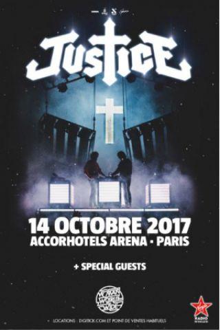 Concert JUSTICE à PARIS 12 @ ACCORHOTELS ARENA - Billets & Places