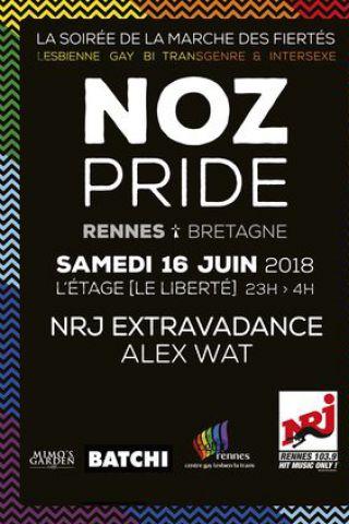 Soirée NOZ PRIDE à RENNES @ Liberté // L'Etage - Billets & Places