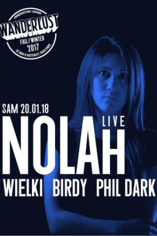 Soirée Nolah (live), Wielki, Birdy, Phil Dark à Paris @ Le Social Club - Billets & Places