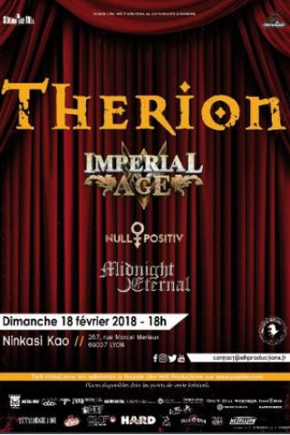 Concert THERION + IMPERIAL AGE + NULL POSITIV