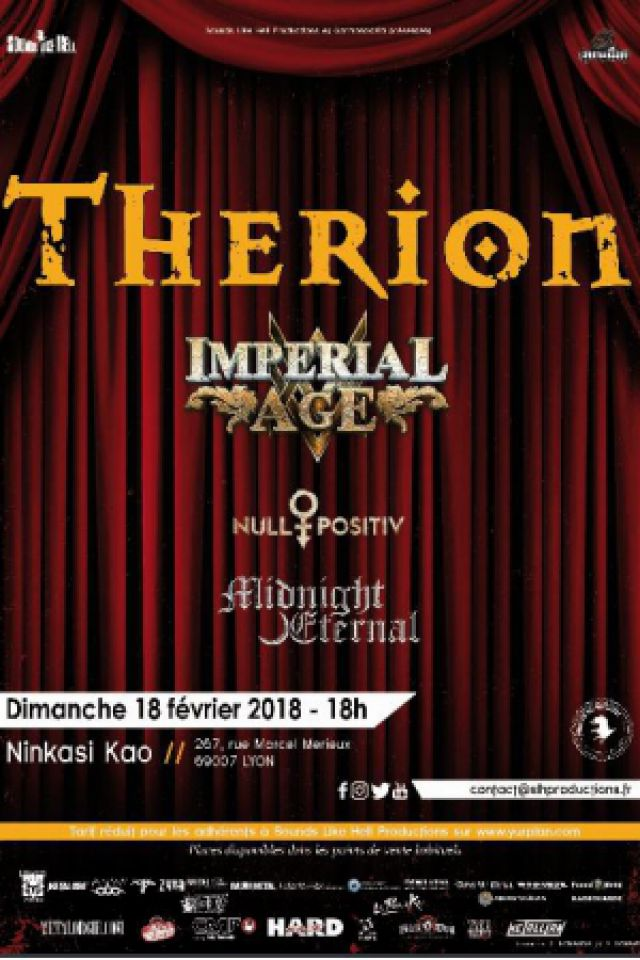 THERION + IMPERIAL AGE + NULL POSITIV @ Ninkasi kao - LYON