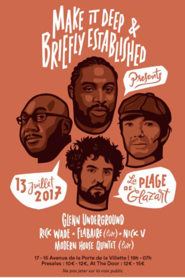 La Plage : Glenn Underground . Rick Wade . Flabaire (Live) . Nick @ Glazart - PARIS 19