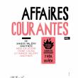 Théâtre AFFAIRES COURANTES