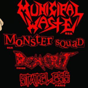 Municipal Waste + Monster Squad + Demerit + Dead 77 + Guest @ Gibus Live - PARIS