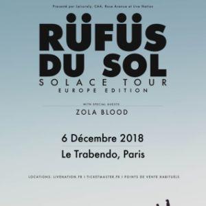 RÜFÜS DU SOL @ Le Trabendo - Paris
