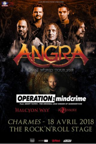Concert ANGRA OMNI WORLD TOUR 2018 à CHARMES @ THE ROCK'N'ROLL STAGE - Billets & Places