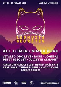 FESTIVAL LES NUITS SECRETES 2018 : Billet, place, pass & programmation | Festival