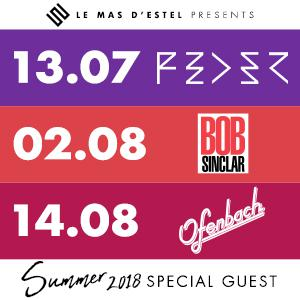 LE MAS D'ESTEL | SUMMER 2018 : Billet, place, pass & programmation | Concert