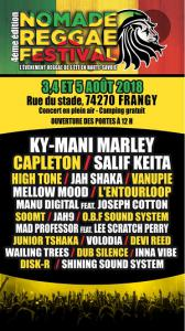 NOMADE REGGAE FESTIVAL 2017 3EME EDITION : programmation, billet, place, pass, infos