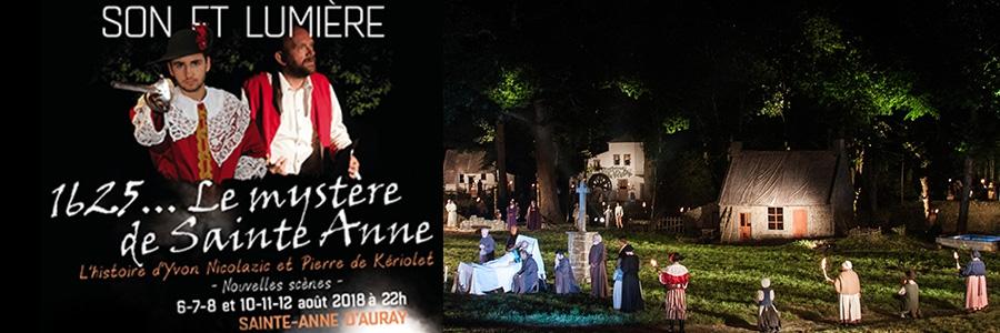 """SON et LUMIERE """" 1625…Le Mystère de Sainte Anne """""""