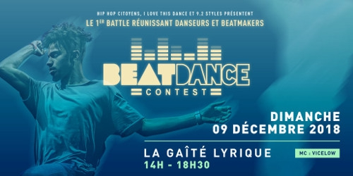 Billets BEATDANCE CONTEST - FESTIVAL PARIS HIP HOP WINTER