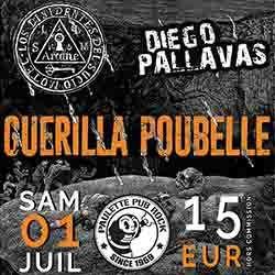 Billets Guerilla Poubelle+Diego Pallavas+Los Dissidentes Del Sucio Motel