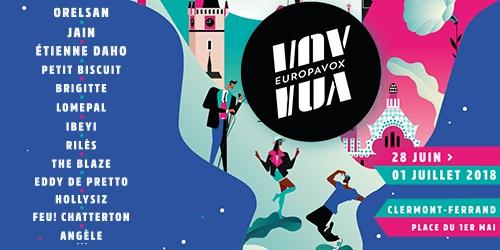 Billets FESTIVAL EUROPAVOX 2018