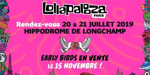 Billets LOLLAPALOOZA PARIS - PASS 2 JOURS